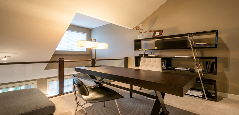 travailler chez soi am nager un espace privil gi homebyme. Black Bedroom Furniture Sets. Home Design Ideas