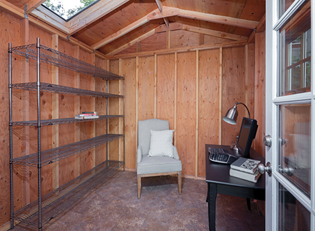 The Last Structural Stage To Turn A Shed Into An Office Is The Floor.  Concrete Is Cold So, If Possible, Lay A Chipboard Floor Over A Layer Of  Insulation.