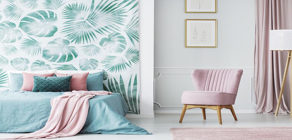 10 papiers peints tendance pour la chambre homebyme. Black Bedroom Furniture Sets. Home Design Ideas