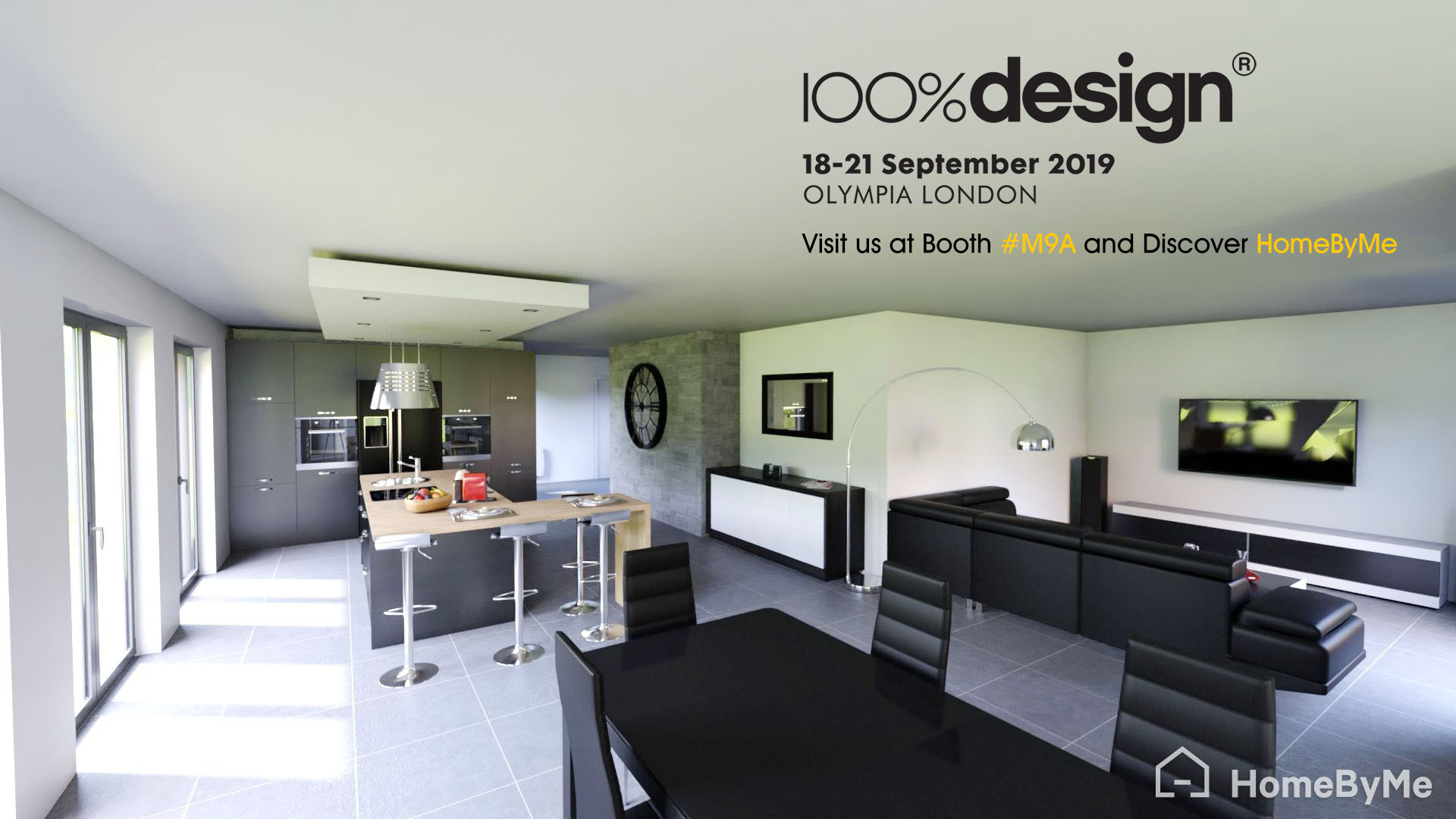Promotion of 100 Percent Design 2019 in London