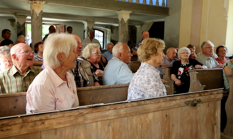Former residents from Wunschendorf in Srbska