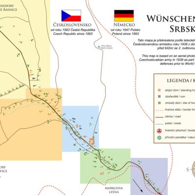 Map of Wunschendorf / Srbska