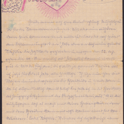 Wartime letter to Wunschendorf