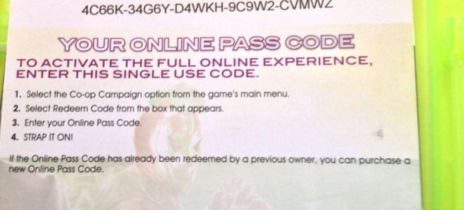 Entretenimiento: El Online Pass: un código para el disfrute