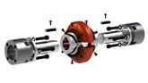 009033 meccanismo energetico per spiralatrici omm 1500