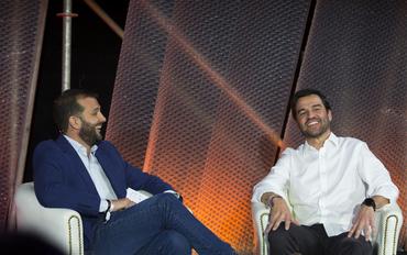 Andres Saborido & Gonzalo Martín Villa (Telefónica)