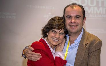 María Benjumea (South Summit) y Juan Carlos Garativo (Innpulsa Colombia)