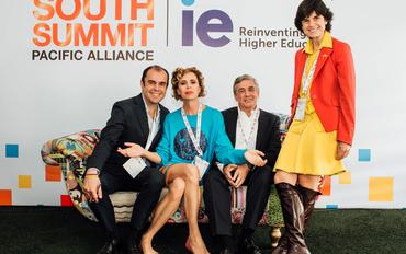 Juan Carlos Garavito (Innpulsa Colombia), Ágatha Ruiz de la Prada, Federico Flórez (Ferrovial) y María Benjumea (Spain Startup - South Summit)