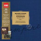 Symphonies Nos 3 & 4 and Schumann Symphony No 4 - Mendelssohn
