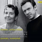 Beethoven: Piano Concertos 3 & 4 - Daniel Harding / Maria João Pires