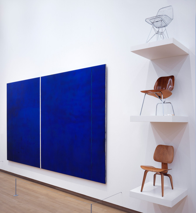 Barnett Newman and Eames, Charles & Ray, installation view The collection, STEDELIJK BASE. Photo: Gert Jan van Rooij