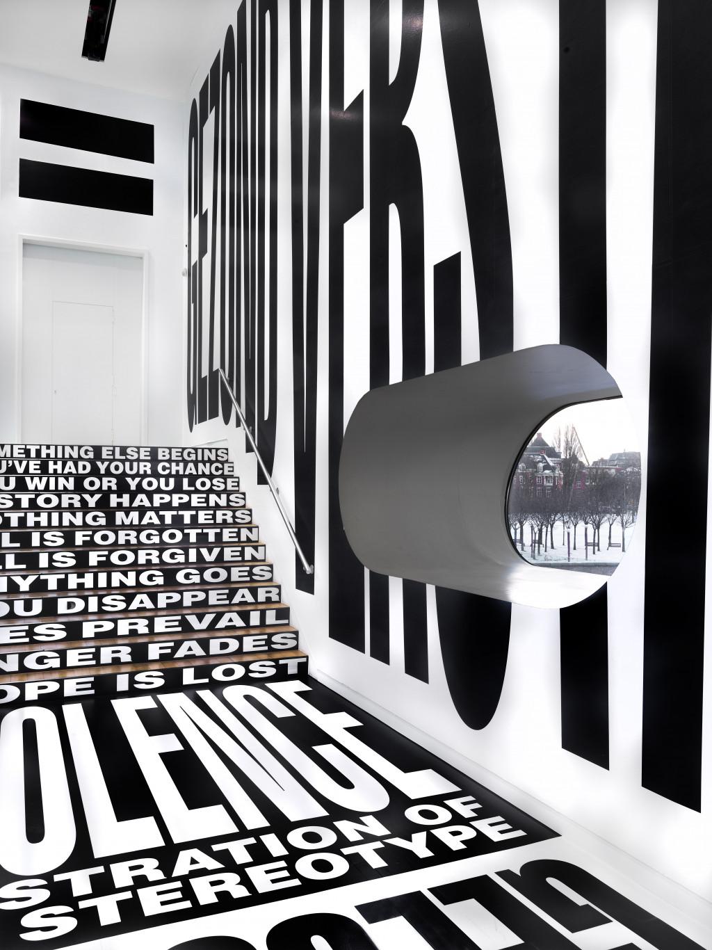 Barbara Kruger, installation view The collection, STEDELIJK BASE. Photo: Gert Jan van Rooij