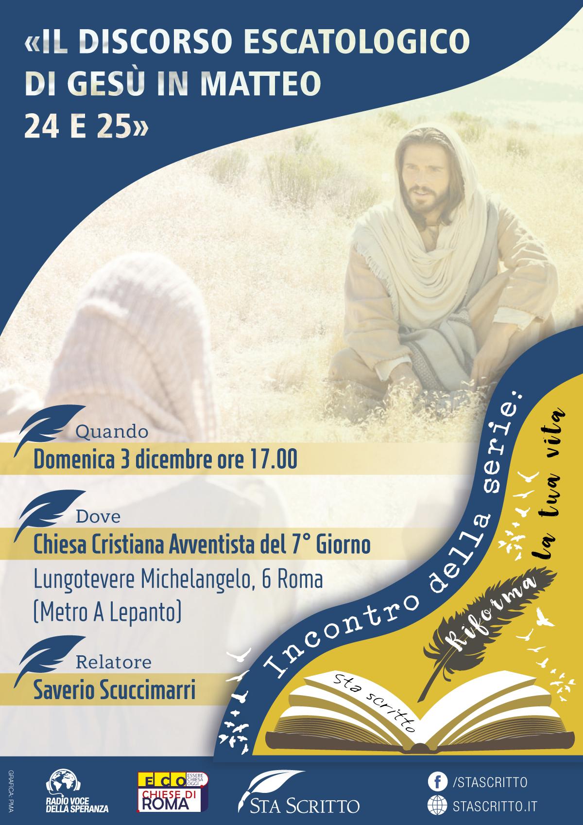 Il discorso escatologico di Gesù in Matteo 24 e 25