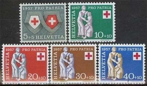 schweiz minr 641 45 pro patria 1957 rotes kreuz briefmarken gro heide osnabr ck. Black Bedroom Furniture Sets. Home Design Ideas