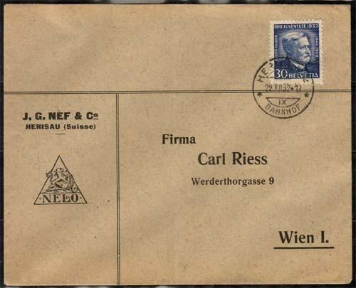 Schweiz Briefmarken Großheide Osnabrück