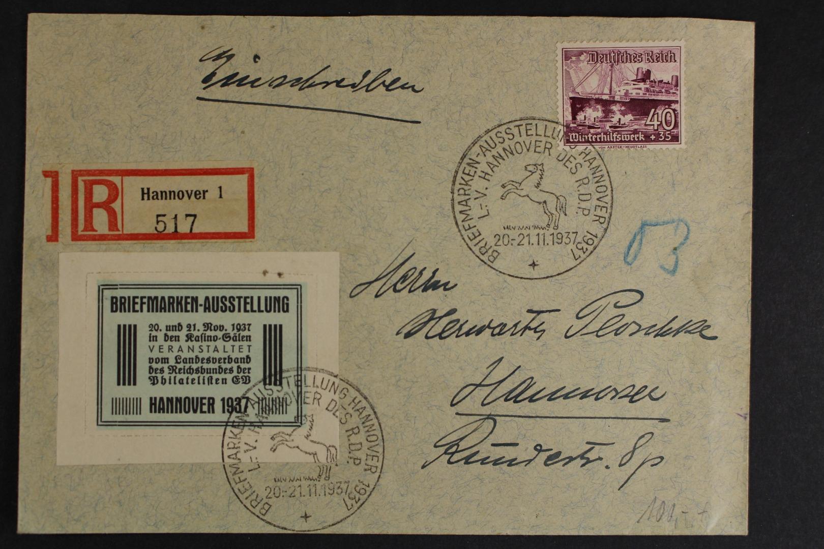 Deutsches Reich Minr 659 Y Unterfrankierter R Brief Briefmarken