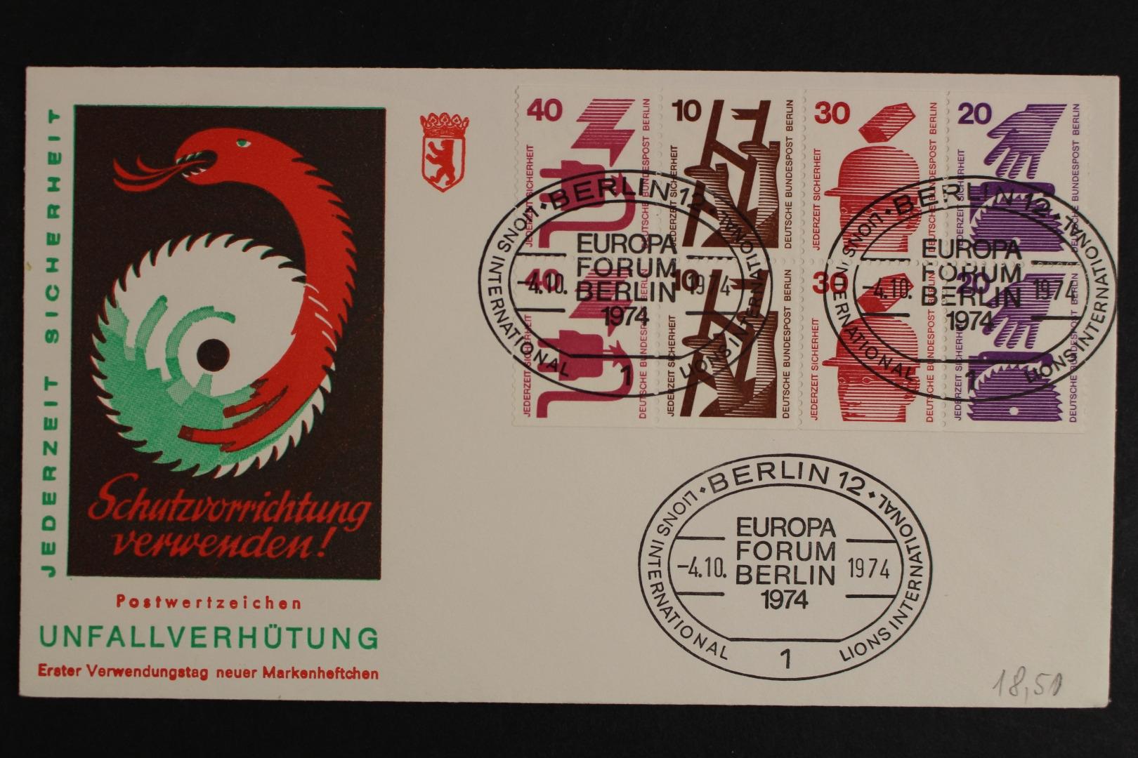 Berlin Minr H Blatt 16 Sonderstempel Berlin Brief Briefmarken