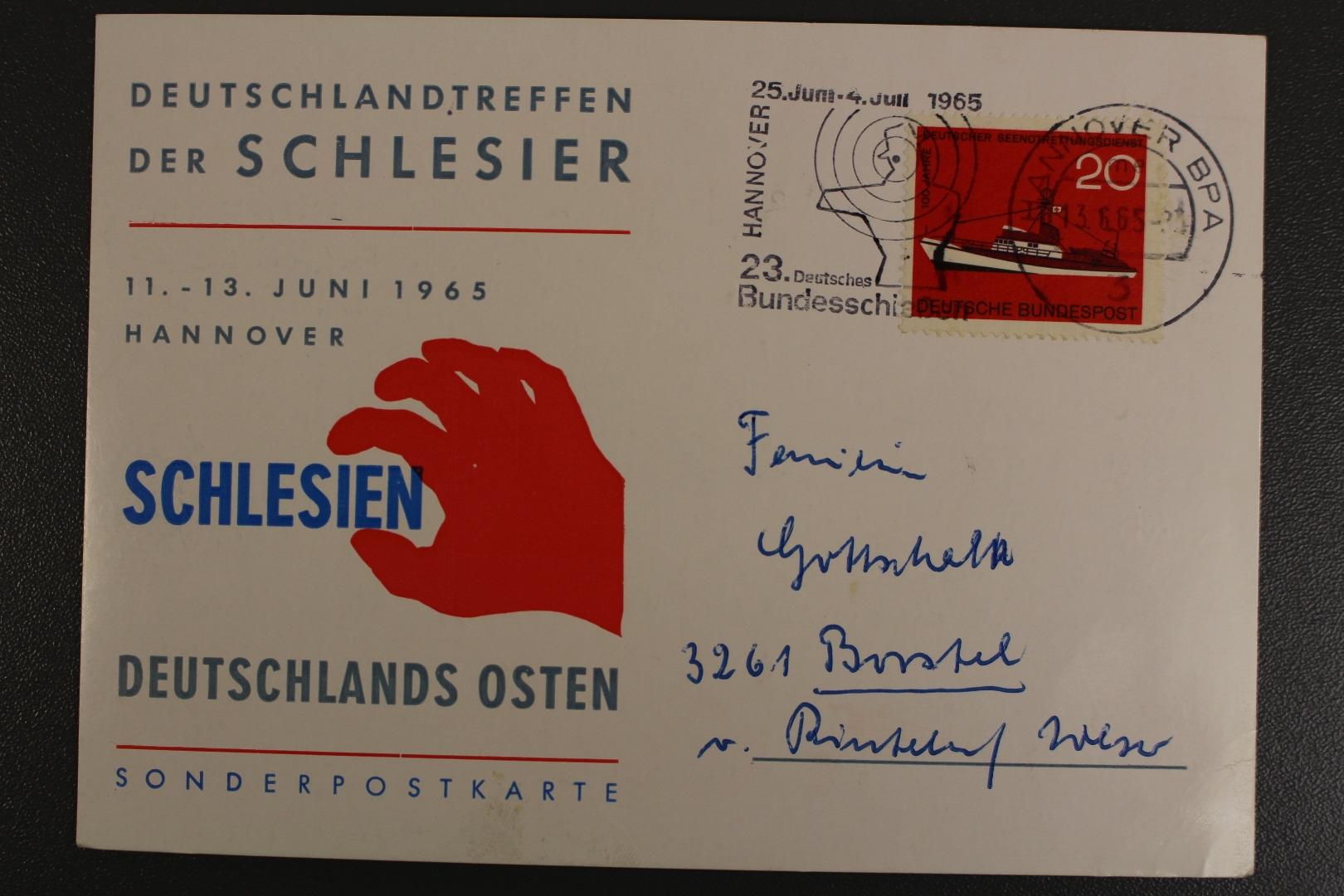 Hannover Deutschlandtreffen Der Schlesier 11 13 Juni 1965
