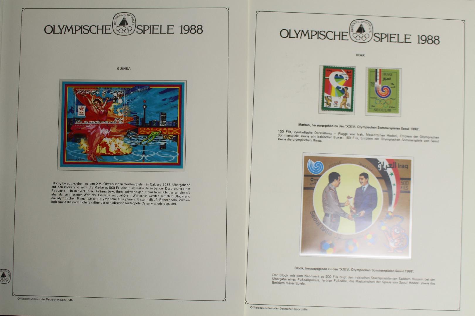 Olympia 1988 Motivsammlung In 4 Alben Lots & Sammlungen Briefmarken