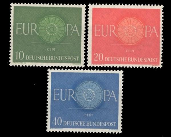 Deutschland Brd Michel Nr 337 339 Postfrisch Briefmarken Holsten