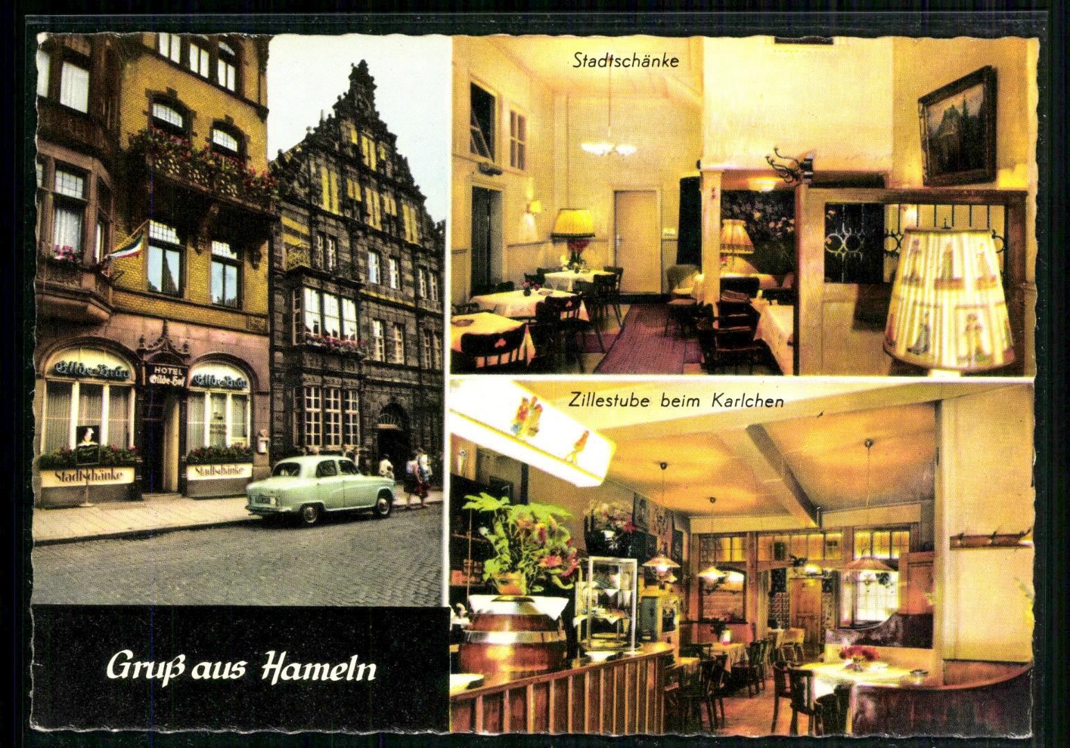 Hameln, Stadtschänke und Zillerstube beim Karlchen - Briefmarken Holsten