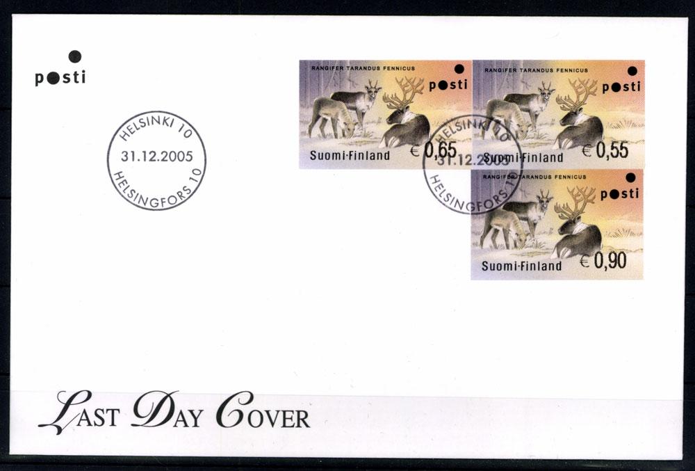 Finnland Automaten Minr 40 3 Werte Brief Briefmarken Holsten