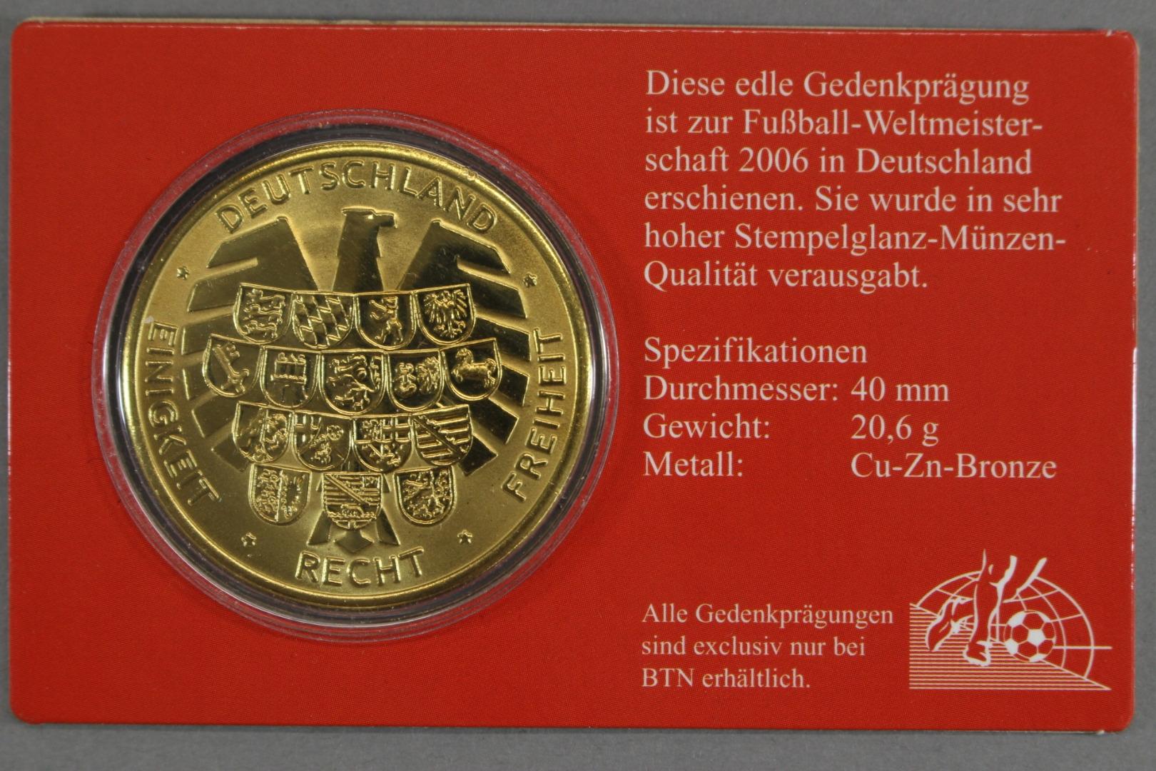 Medaille Zur Fussball Wm 2006 Ausgabe Fur Italien