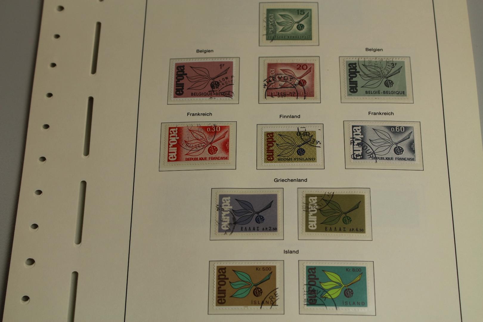 Europa Union Cept 1965 Gestempelt Auf Leuchtturm Vordruckblättern