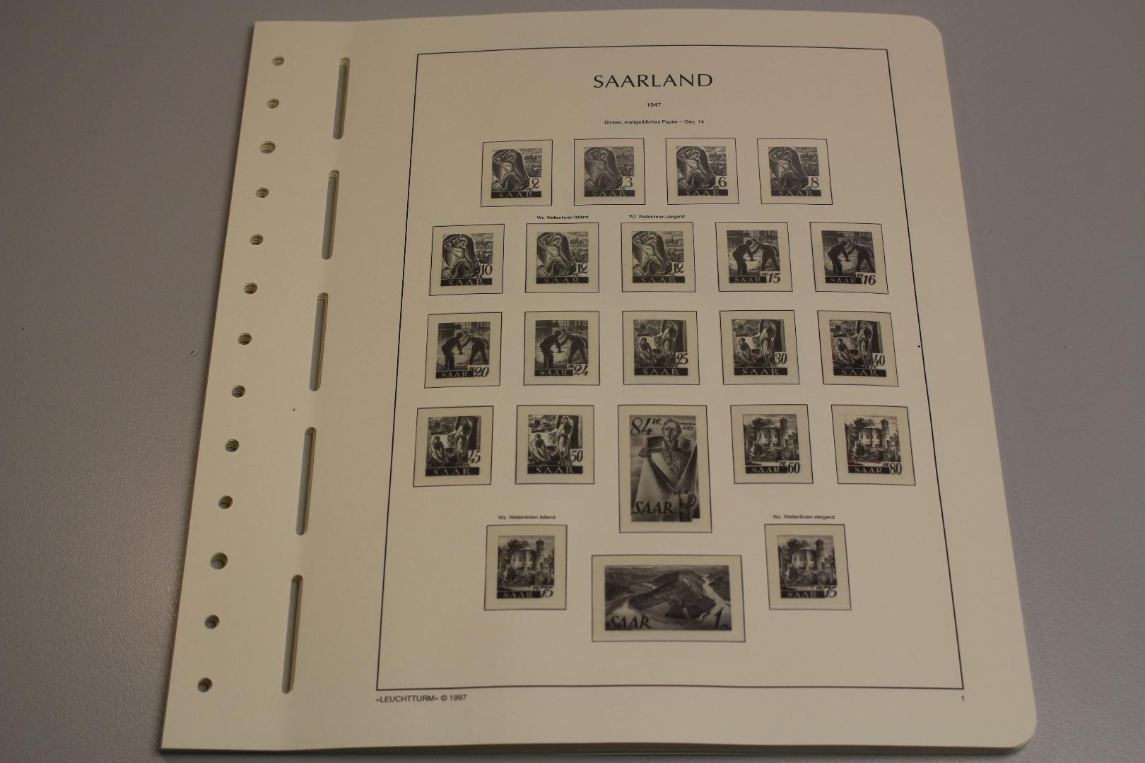 leuchtturm saarland 1947 1959 sf system briefmarken. Black Bedroom Furniture Sets. Home Design Ideas