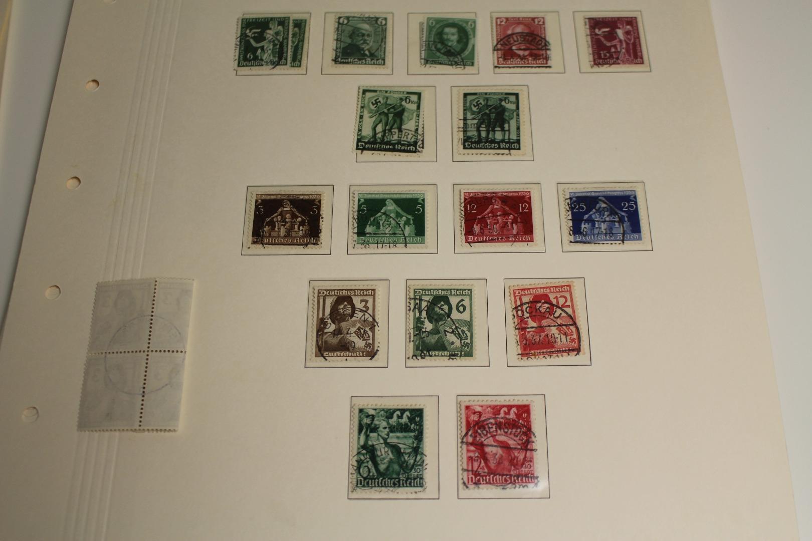 Briefmarken Posten Viel Deutsches Reich Dabei 2 Alte Vordrucke