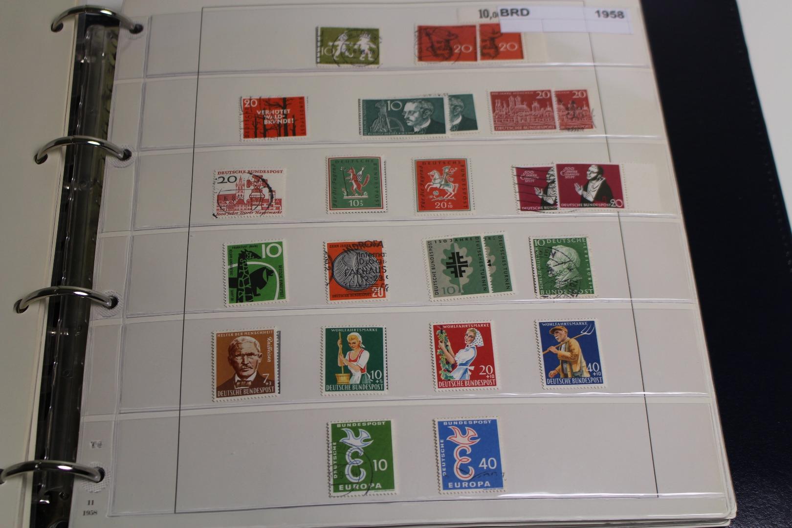 Briefmarken Deutschland Posten Aus Einem Nachlaß Briefmarken Holsten