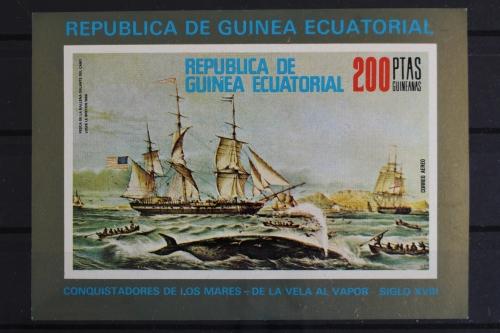 Briefmarken Segelschiff Walfangschiffe Block 249 Äquatorialguinea