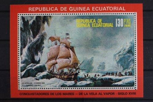 Äquatorialguinea Briefmarken Segelschiff Walfangschiffe Block 249 Äquatorialguinea