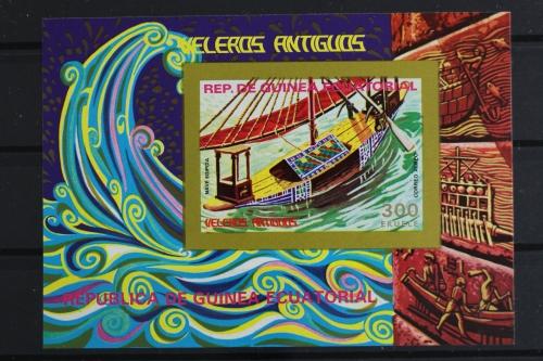 Äquatorialguinea Afrika Segelschiff Walfangschiffe Block 249 Äquatorialguinea