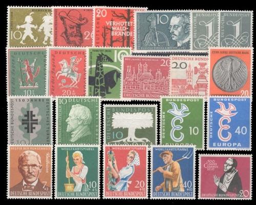 Jahrgang 1958281 301 Briefmarken Holsten