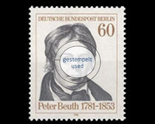 Gestempelt Briefmarken Berlin Nr.637 Achim Von Arnim 1981
