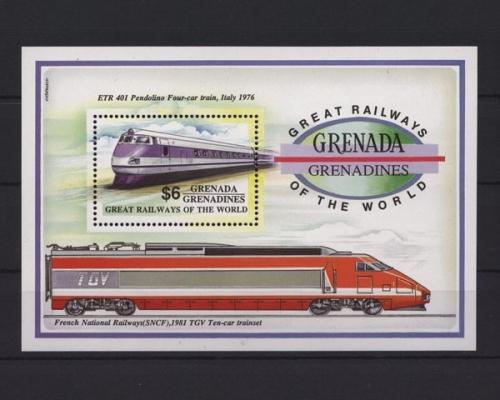 Eisenbahn Tgv 2 Briefmarken Block Gestempelt Von Guinea Bissau Briefmarken