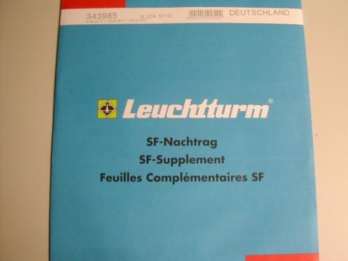 Leuchtturm Nachtrag Deutschland 2009 Sf Neu Briefmarken