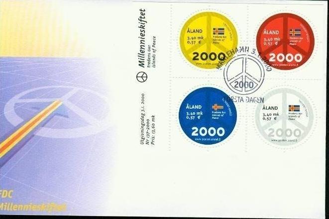 Aland Block 4 ** 2000 Europa Briefmarken
