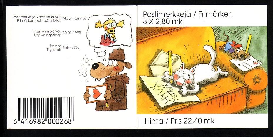 Finnland Mh 38 Valentinstag Comic Hologramm Briefmarken Peter