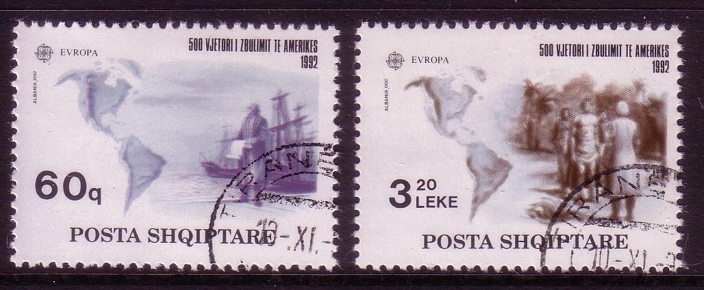Briefmarken Albanien Posta Shqiptare 1992 Albanien Europa