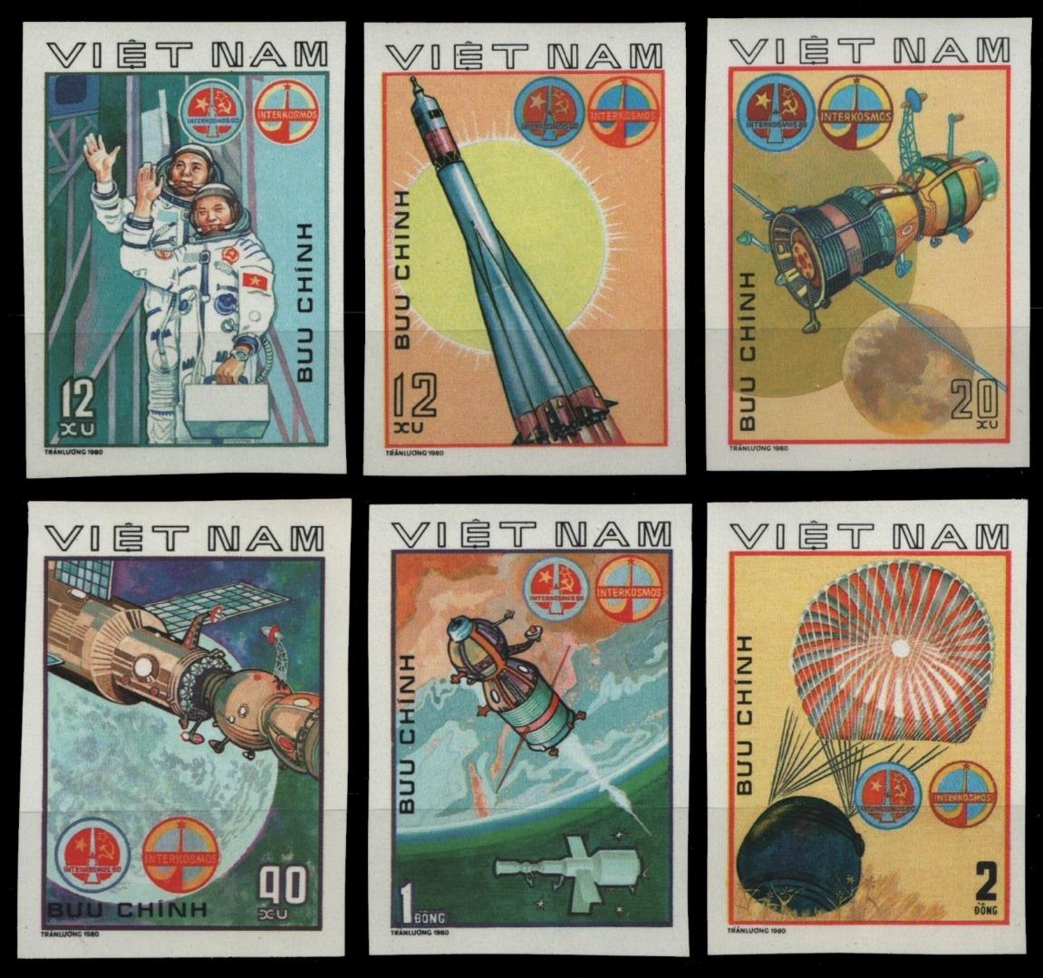 Vietnam 1980-mi-nº 1104-1109 U (*) - Sans élastique Occasionnée-spatiale-afficher Le Titre D'origine Toujours Acheter Bien