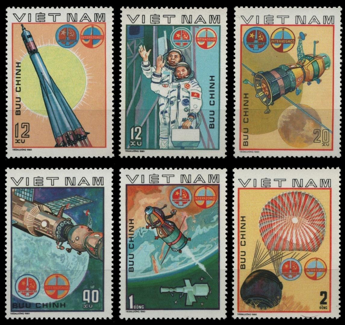 Objectif Vietnam 1980-mi-nº 1104-1109 (*) - Sans élastique Occasionnée-aéronautique/space-afficher Le Titre D'origine TrèS Poli