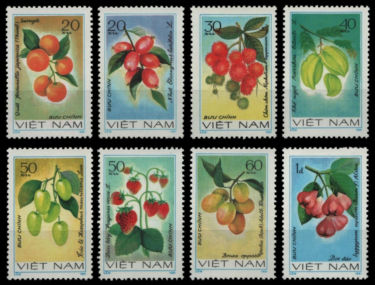 Vietnam 1981-mi-nº 1179-1186 (*) - Sans élastique Occasionnée-fruits/fruits-afficher Le Titre D'origine RéTréCissable