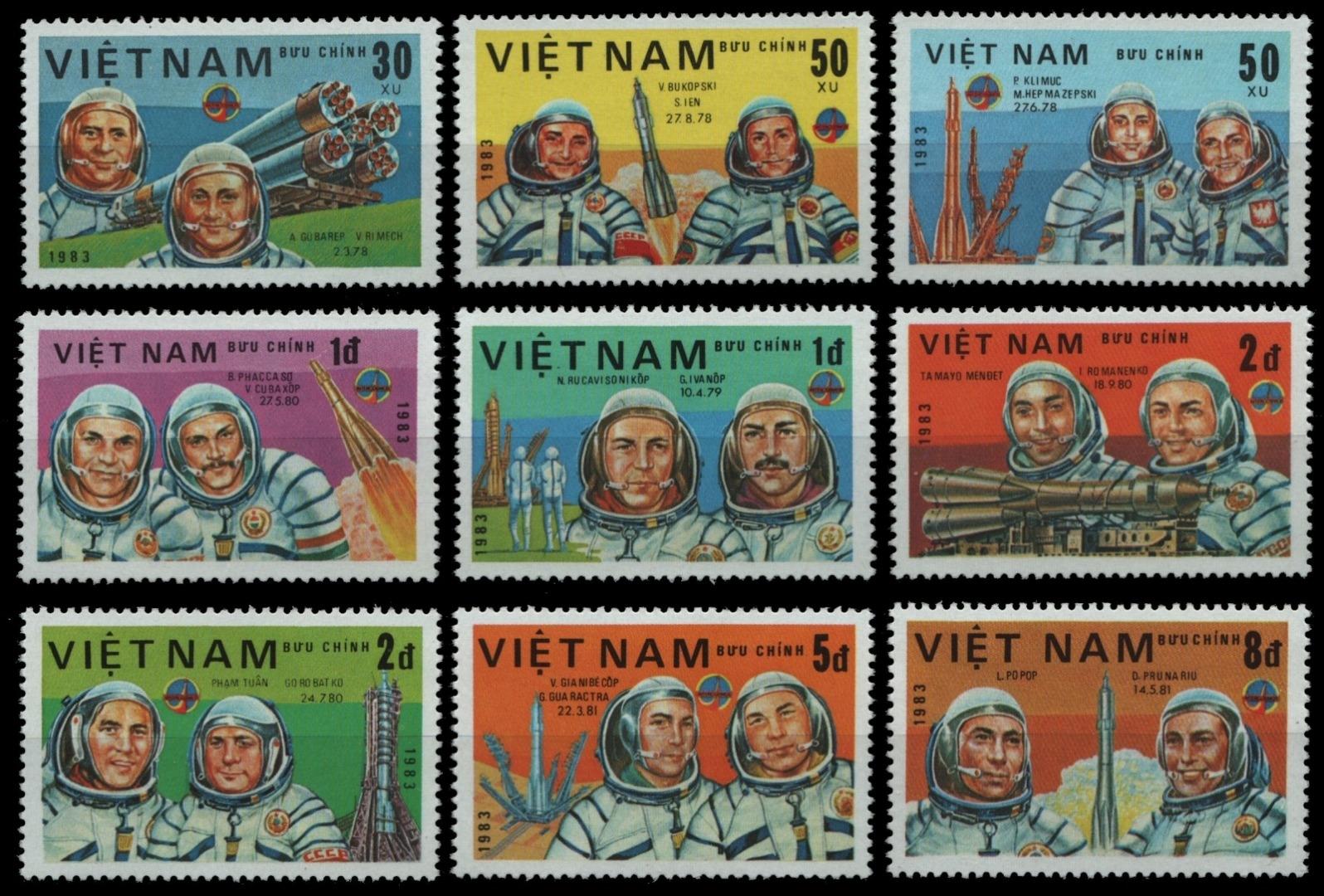 Vietnam 1983-mi-nº 1317-1324 (*) - Sans élastique Occasionnée-aéronautique/space-afficher Le Titre D'origine