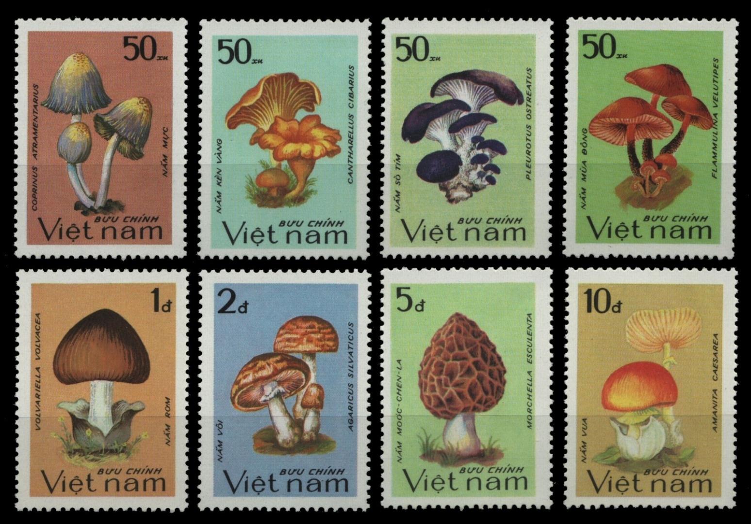 Expressif Vietnam 1983-mi-nº 1371-1378 (*) - Sans élastique Occasionnée-champignons/champignons-afficher Le Titre D'origine