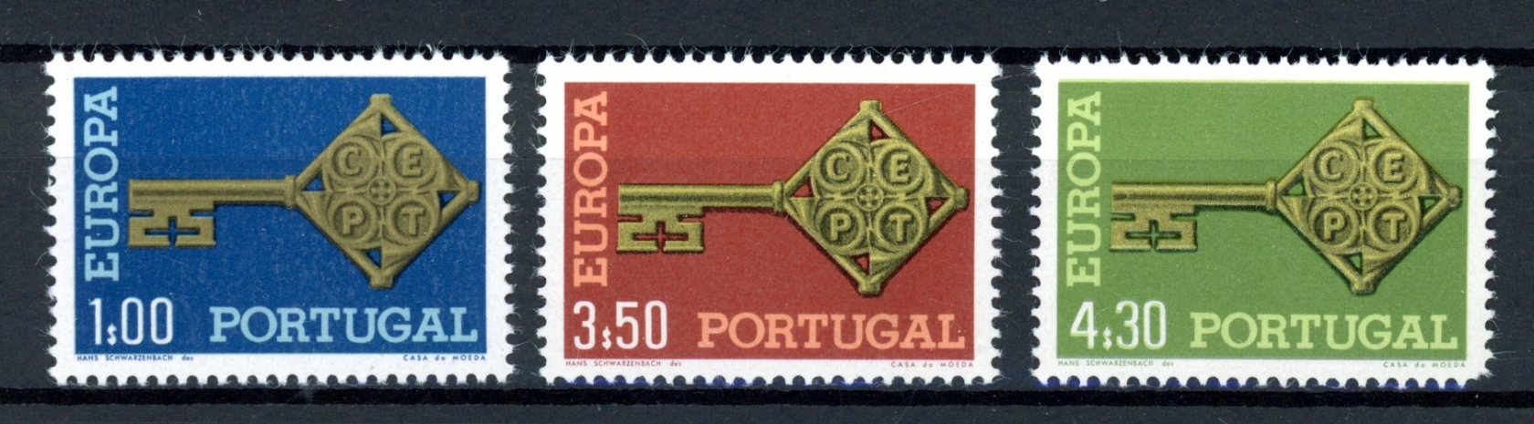 Portugal-MiNr-1051-53-tamponne-Neuf-sans-charniere-CEPT-c070