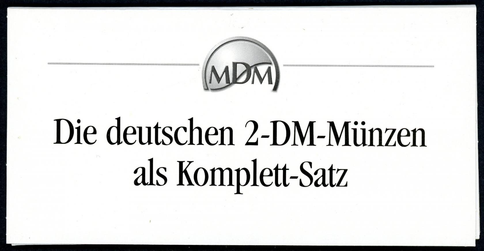 Bund Die Deutschen 2 Dm Münzen Al Komplett Satz Ss Aix Phila Shop
