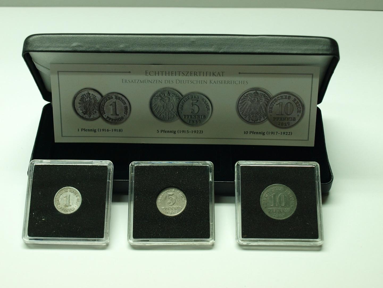 Deutsches Reich Ersatzmünzen Des Kaiserreichs 1 5 10 Pfennig Im