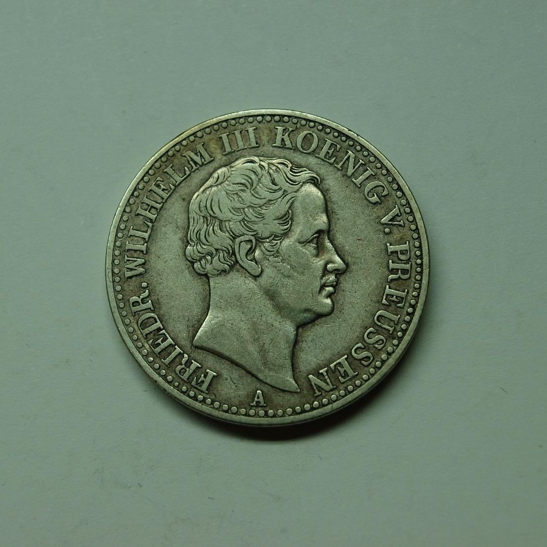 Preussen 1838 A Ausbeutetaler König Friedrich Wilhelm Iii Ss Aix